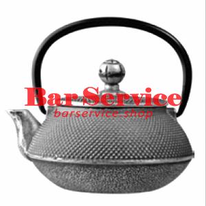 Чайник с ситечком; чугун; 650мл; D=8.7,H=9.4,L=14.5см черный в Кемерово
