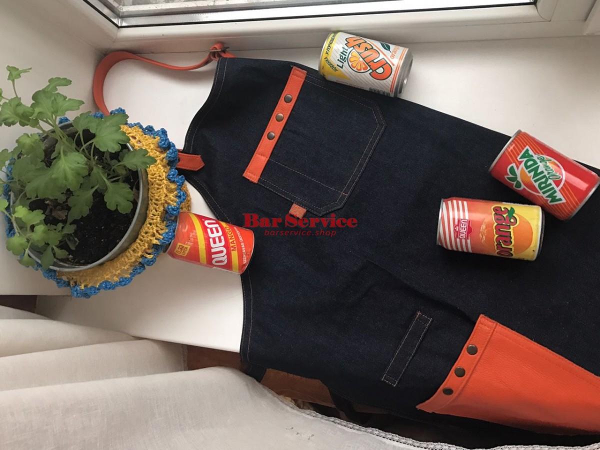 """Фартук барменский """"апельсин"""" в Кемерово"""