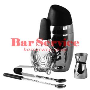 Набор барменский 5 предметов, черный  в Кемерово