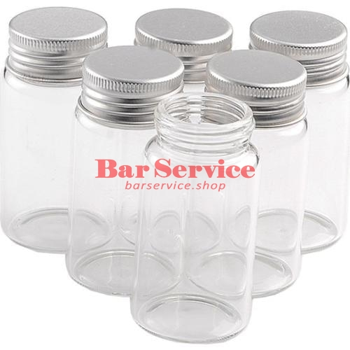 Бутылка прозрачная с алюминиевой крышкой 220мл 5,9*11,2см  в Кемерово