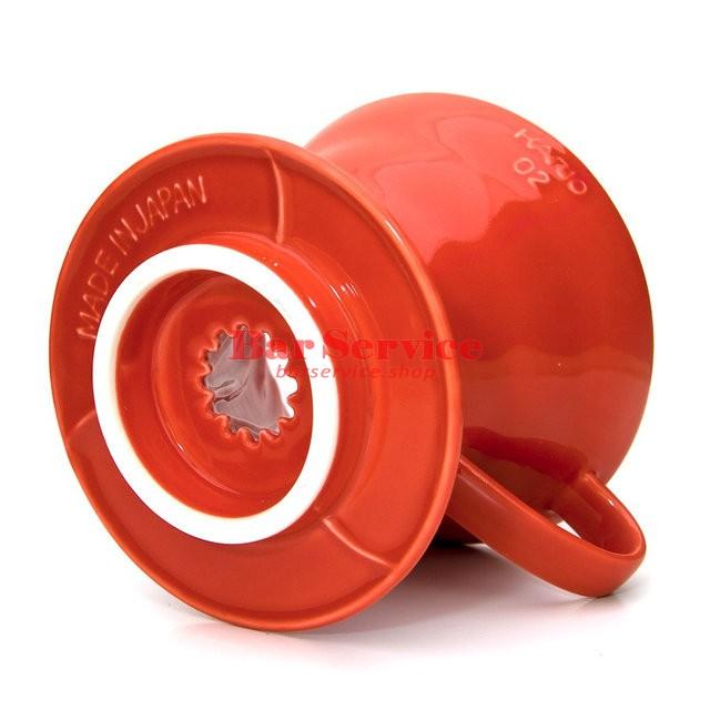 Hario VDC-02R. Воронка керамическая красная. 1-4 чашки в Кемерово